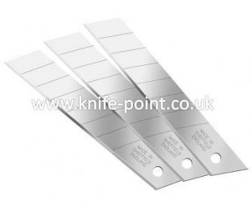 10 pieces of 18mm Snap Off Blades, in protective tubes, MADE IN SHEFFIELD